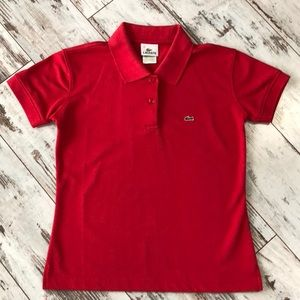 Lacoste red polo shirt-2 button